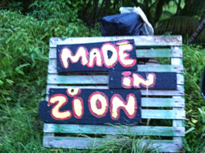 Made In Zion Road Sign